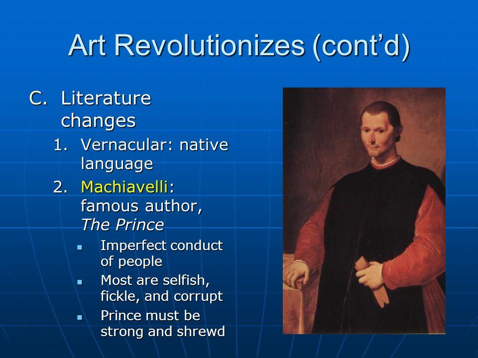 Art Revolutionizes (cont'd)