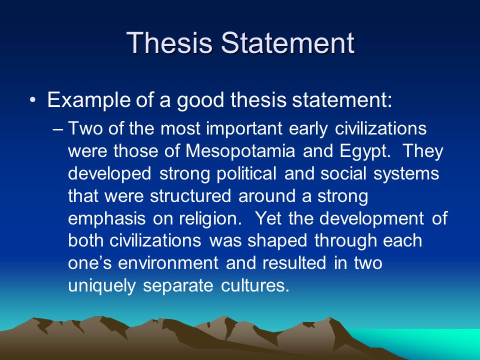 5 thesis statement example