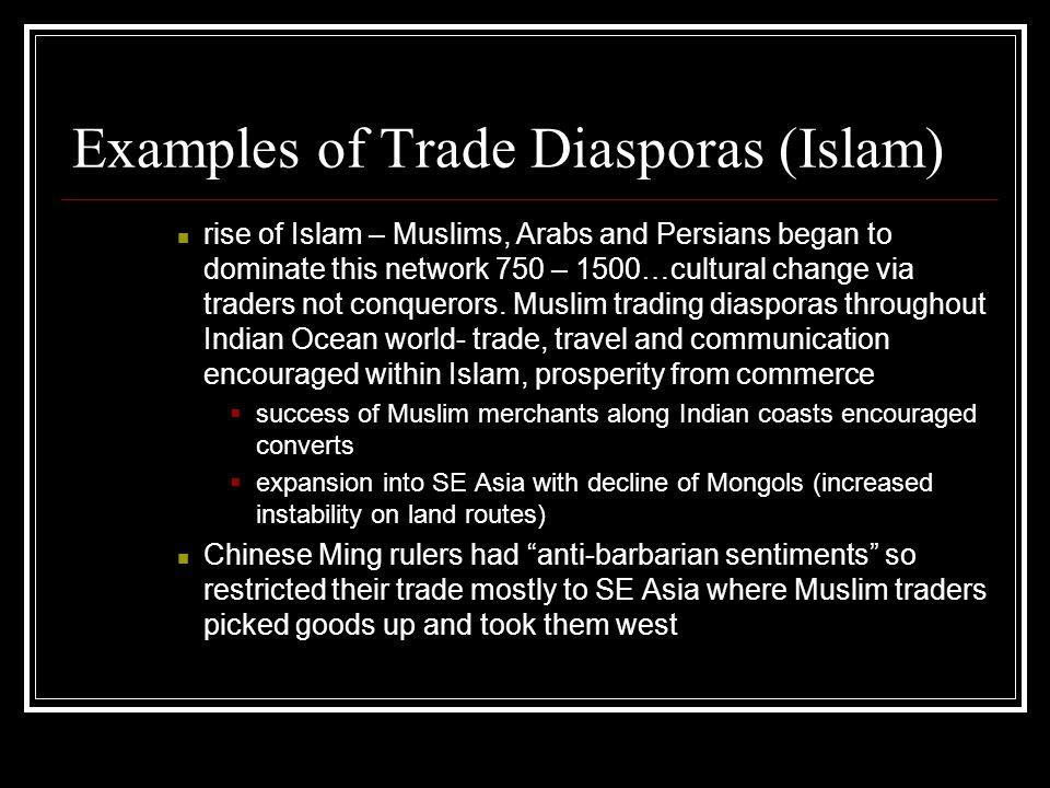 Examples of Trade Diasporas (Islam)