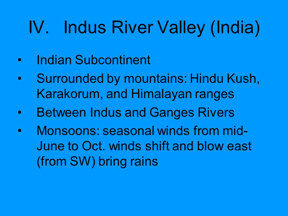 Indus River Valley (India)