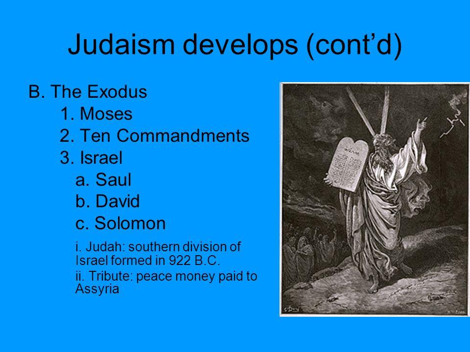 Judaism develops (cont'd)