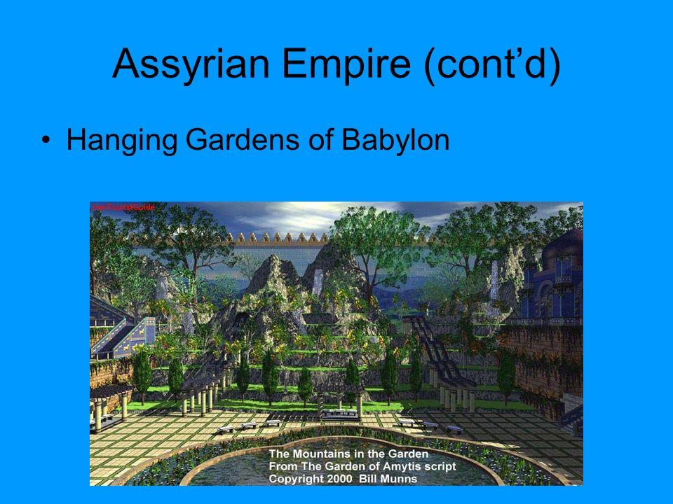 Assyrian Empire (cont'd)