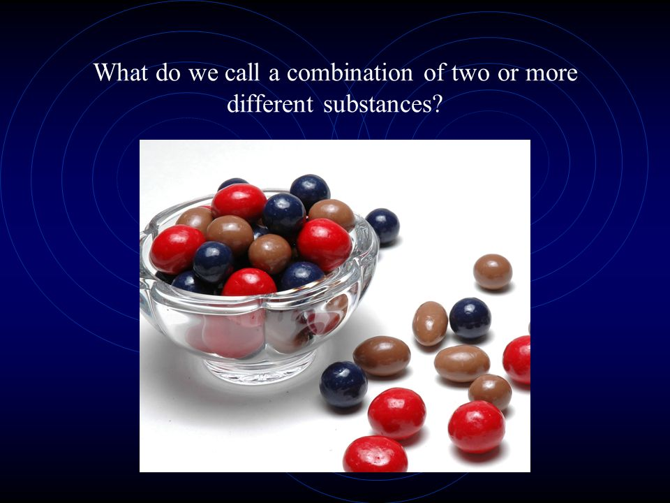 What do we call a combination of two or more different substances