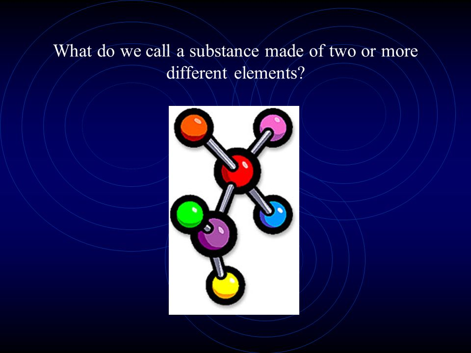 What do we call a substance made of two or more different elements