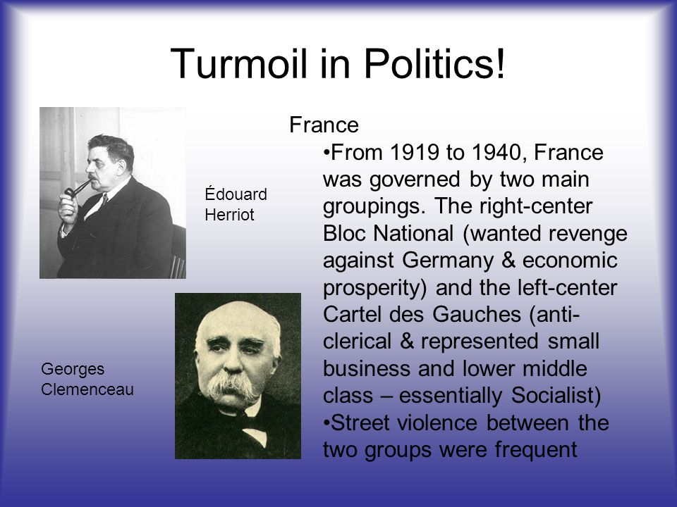Turmoil in Politics! France