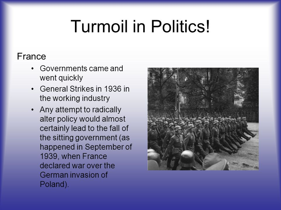 Turmoil in Politics! France Governments came and went quickly