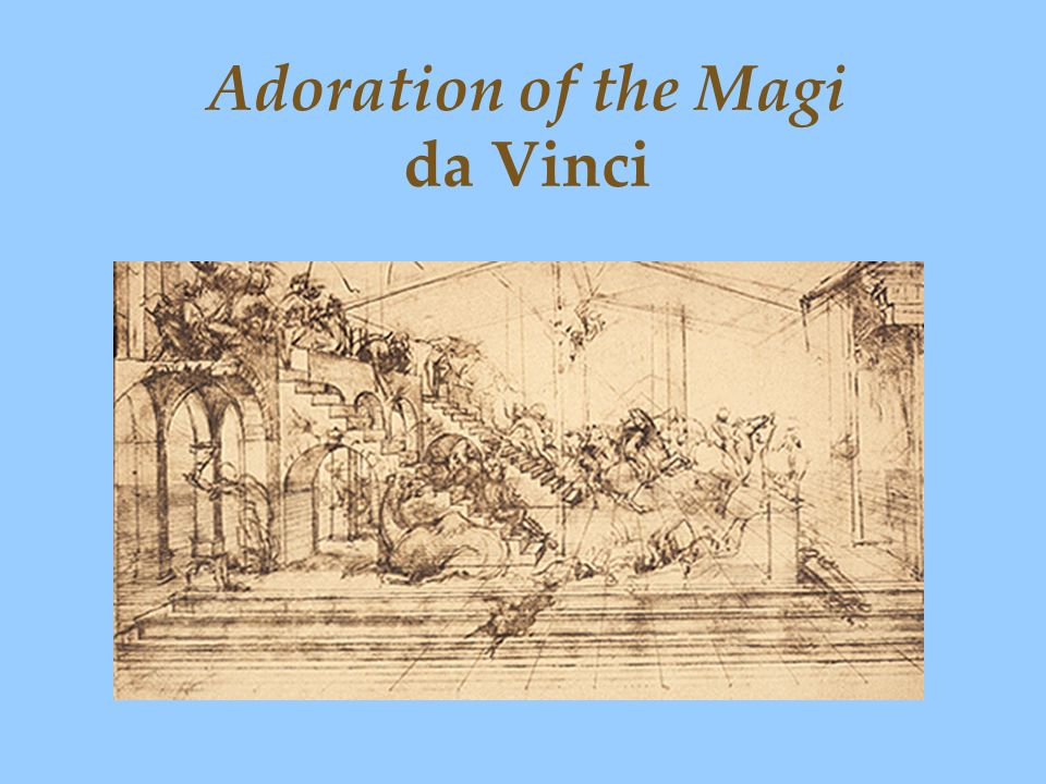 Adoration of the Magi da Vinci