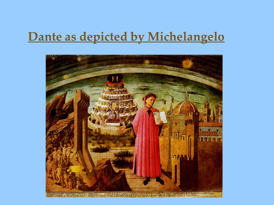 Dante as depicted by Michelangelo