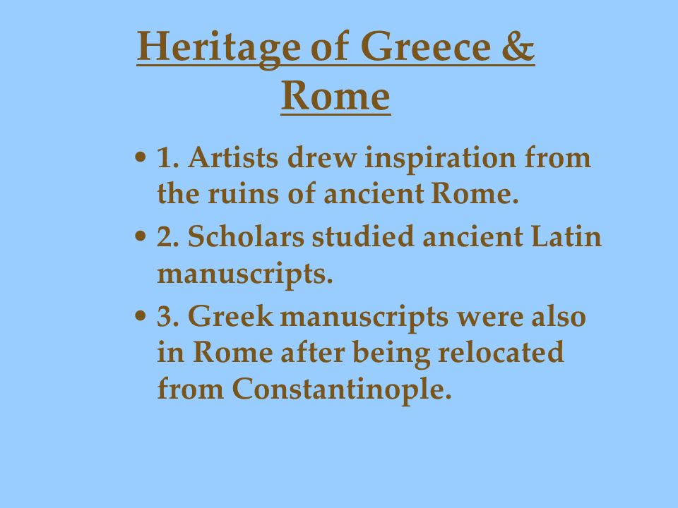Heritage of Greece & Rome