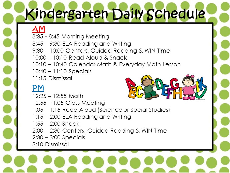 Daily Calendar Kindergarten : Parents please find your child s mailbox ppt video