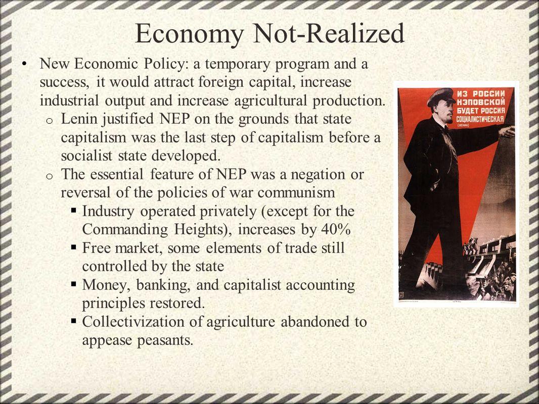 Economy Not-Realized
