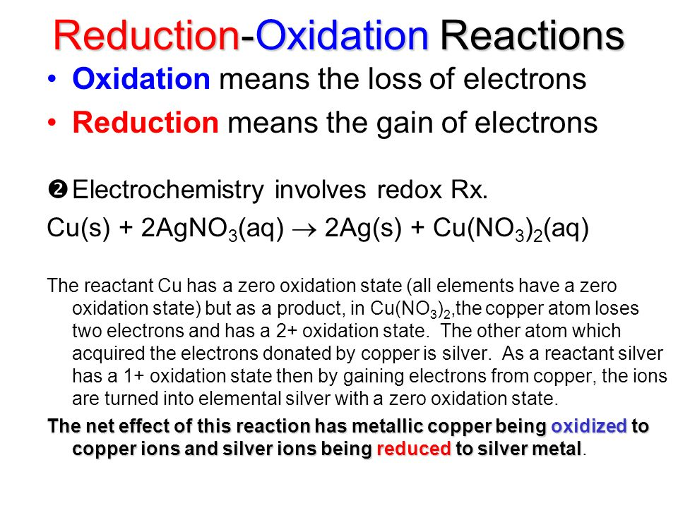 Reduction-Oxidation Reactions