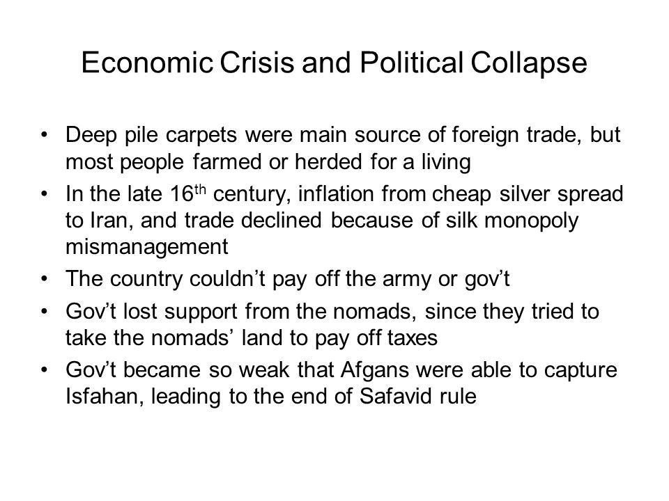 Economic Crisis and Political Collapse