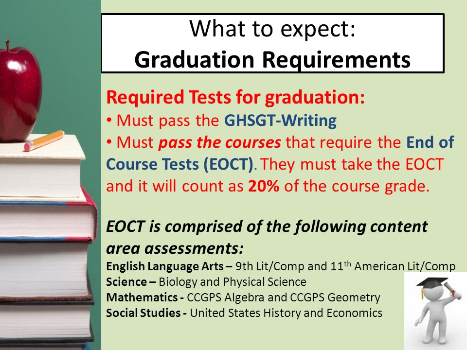 What to expect: Graduation Requirements