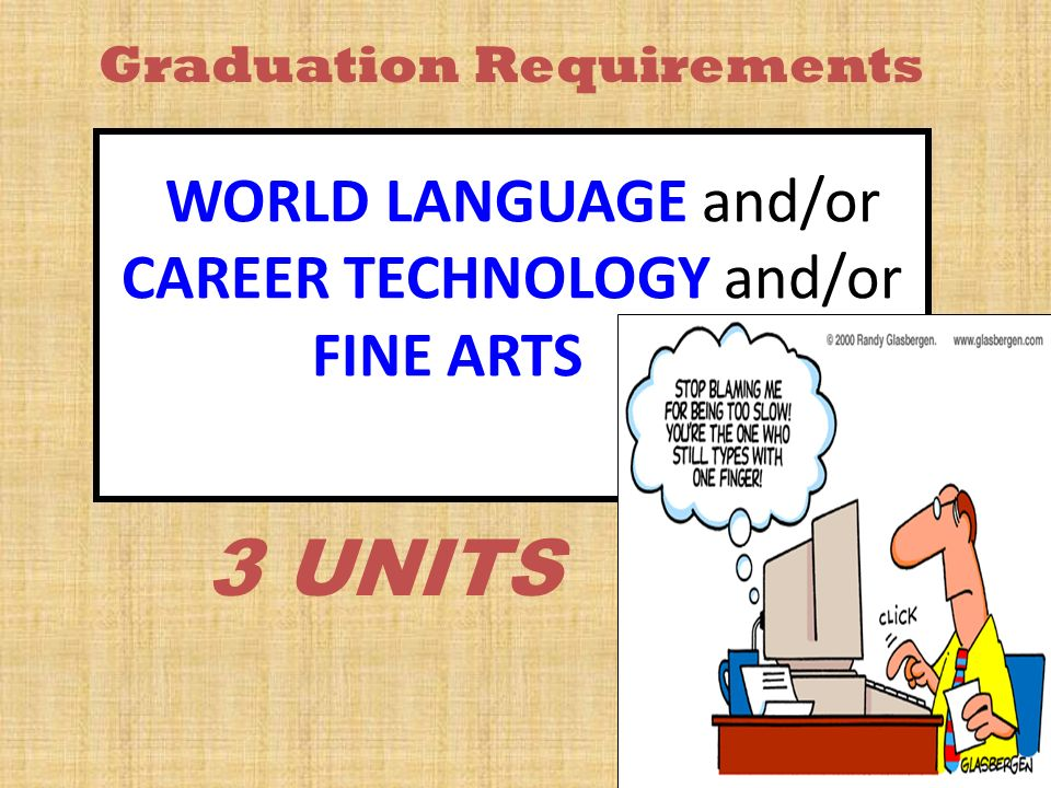 WORLD LANGUAGE and/or CAREER TECHNOLOGY and/or FINE ARTS