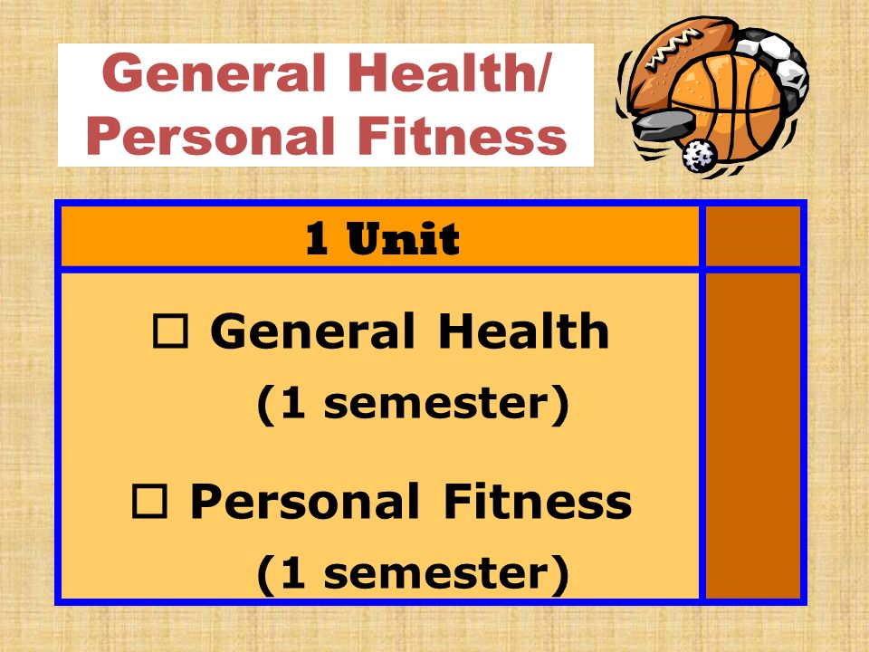 General Health/ Personal Fitness