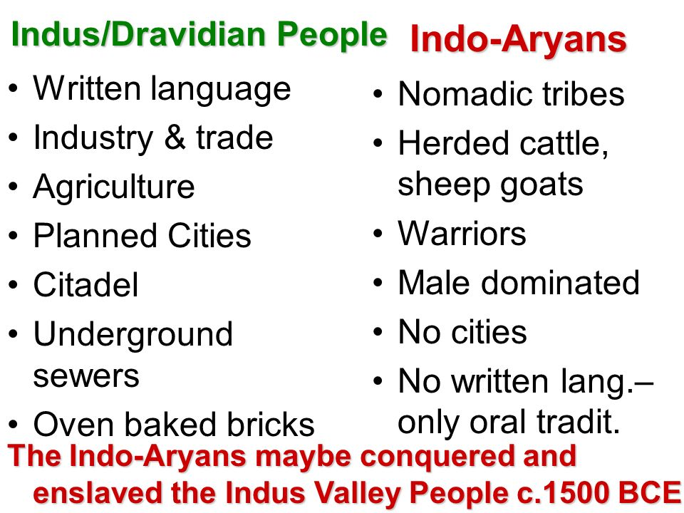 Indus/Dravidian People