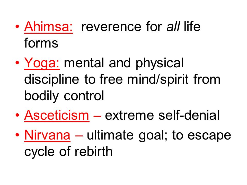Ahimsa: reverence for all life forms