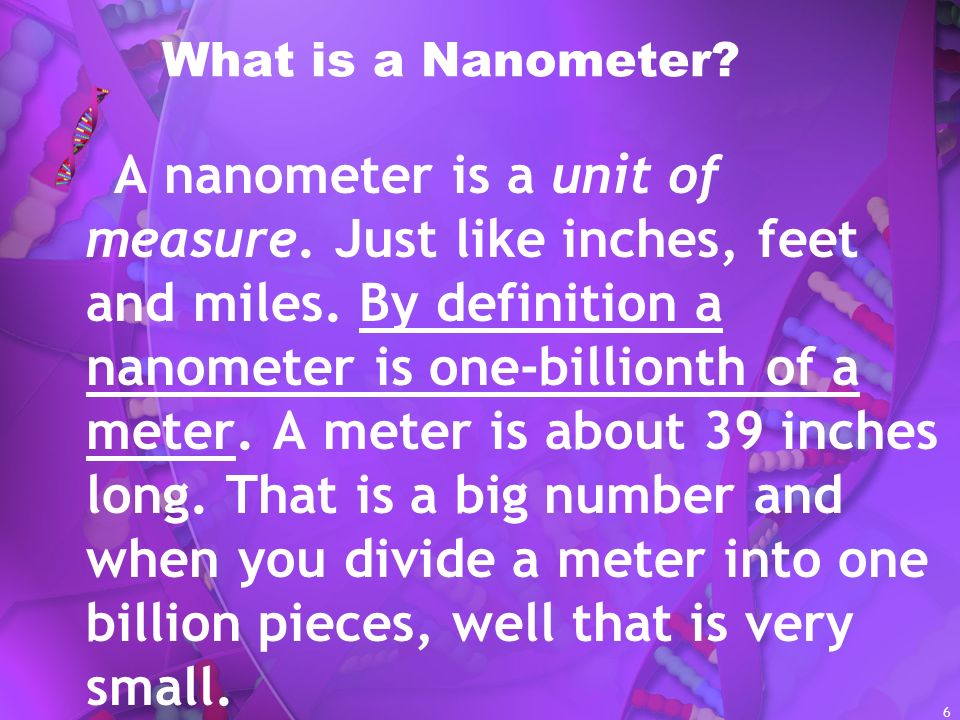 What is a Nanometer