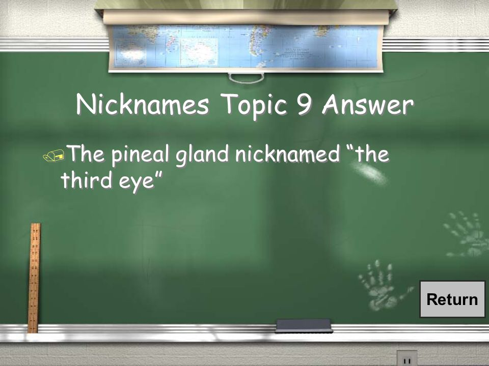Nicknames Topic 9 Answer