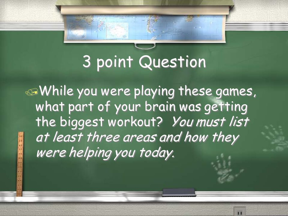 3 point Question