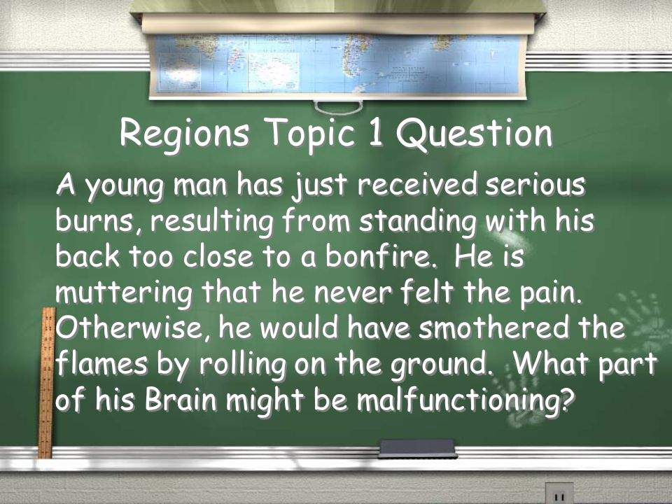 Regions Topic 1 Question