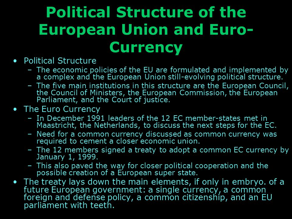 the european union and the common european currency the euro essay Sample essay prompt: analyze the  like nato and the european union an economic  marshall plan and a universal currency, the western european.