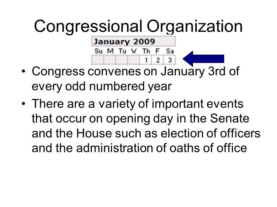 Congressional Organization