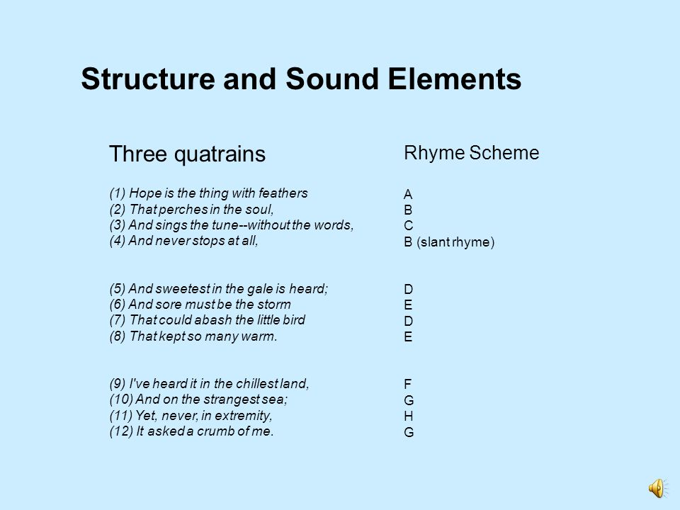 Structure and Sound Elements