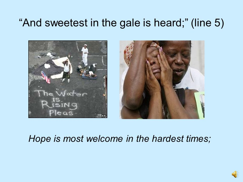 And sweetest in the gale is heard; (line 5)