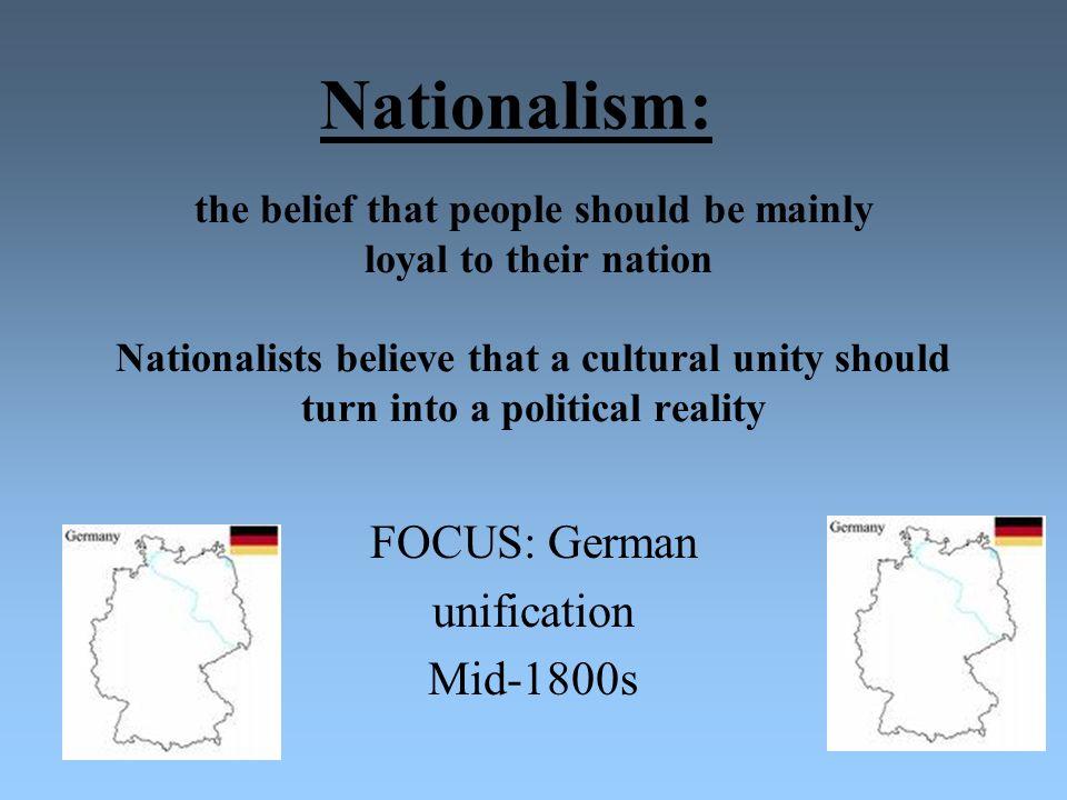 FOCUS: German unification Mid-1800s