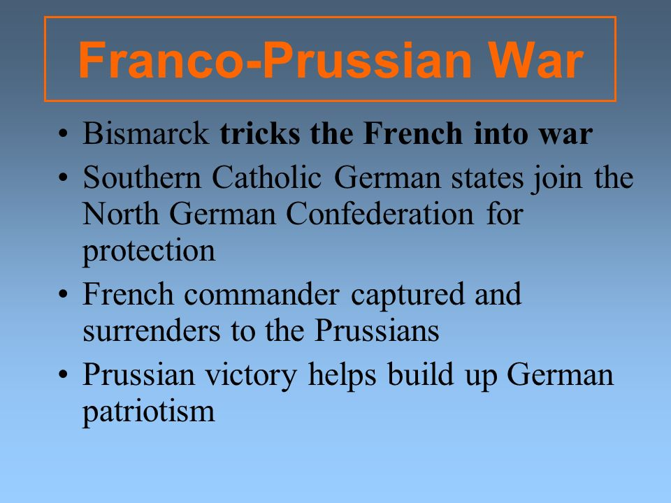 Franco-Prussian War Bismarck tricks the French into war