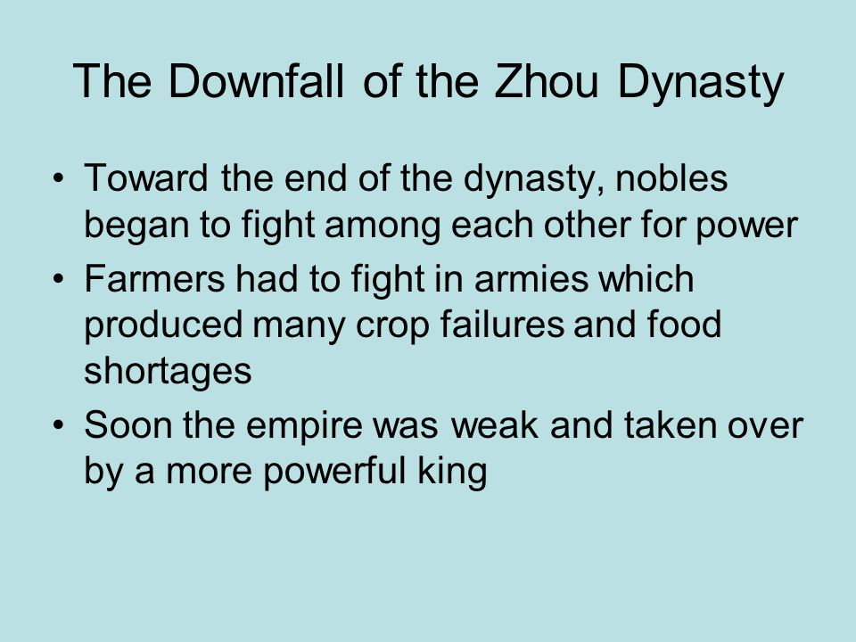 The Downfall of the Zhou Dynasty