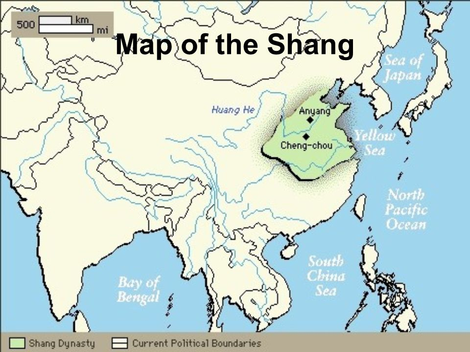 Map of the Shang