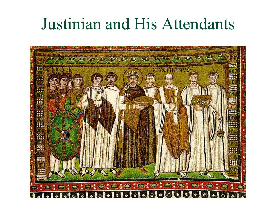 Justinian and His Attendants