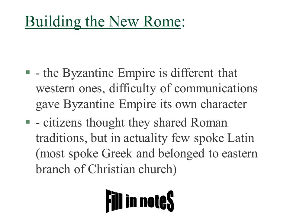 Building the New Rome: Fill in noteS