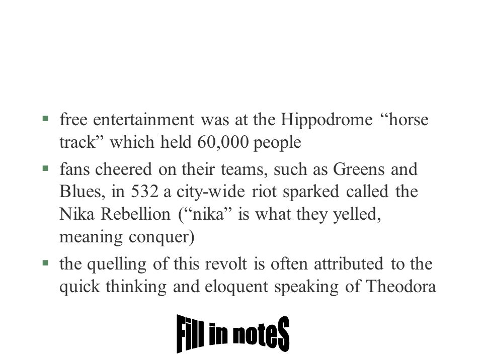 free entertainment was at the Hippodrome horse track which held 60,000 people