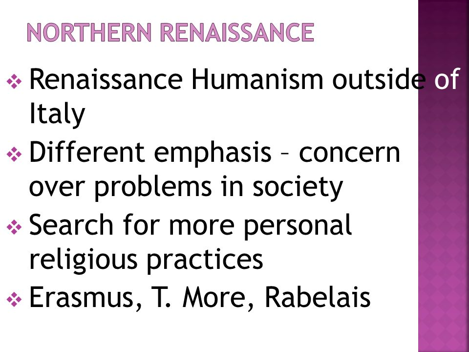 Renaissance Humanism outside of Italy