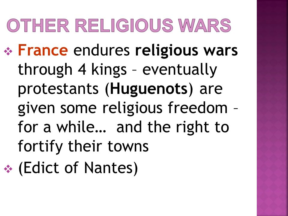 Other Religious Wars