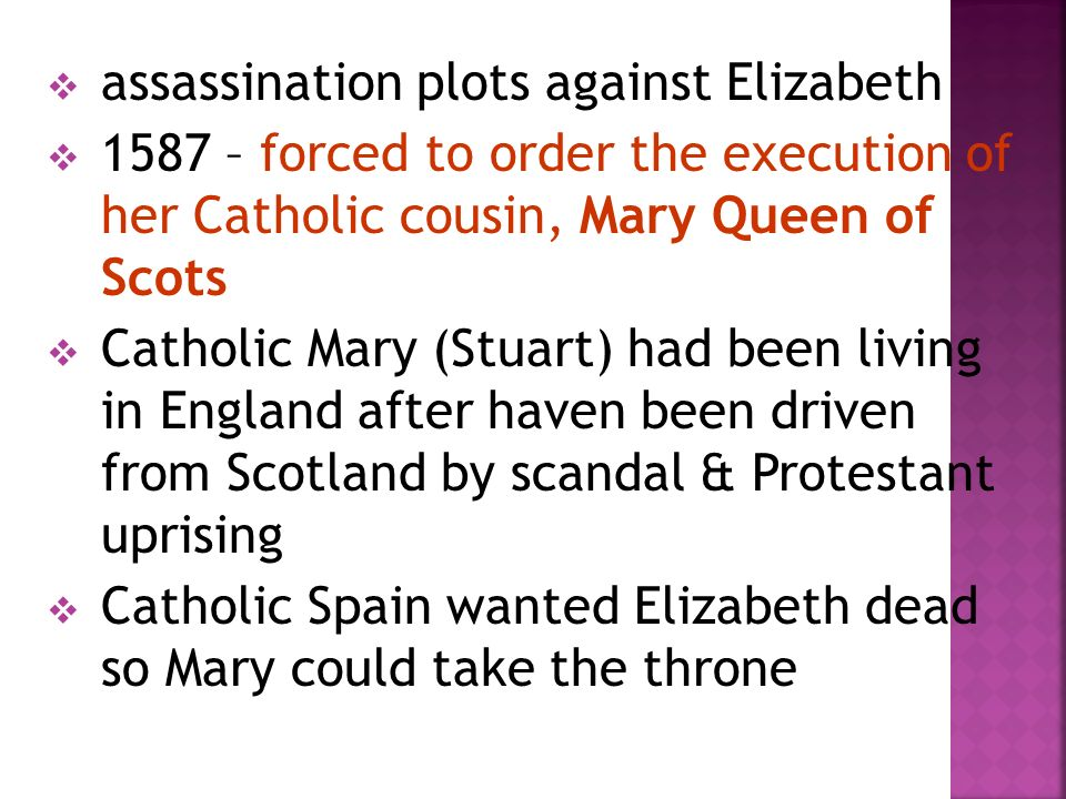 assassination plots against Elizabeth