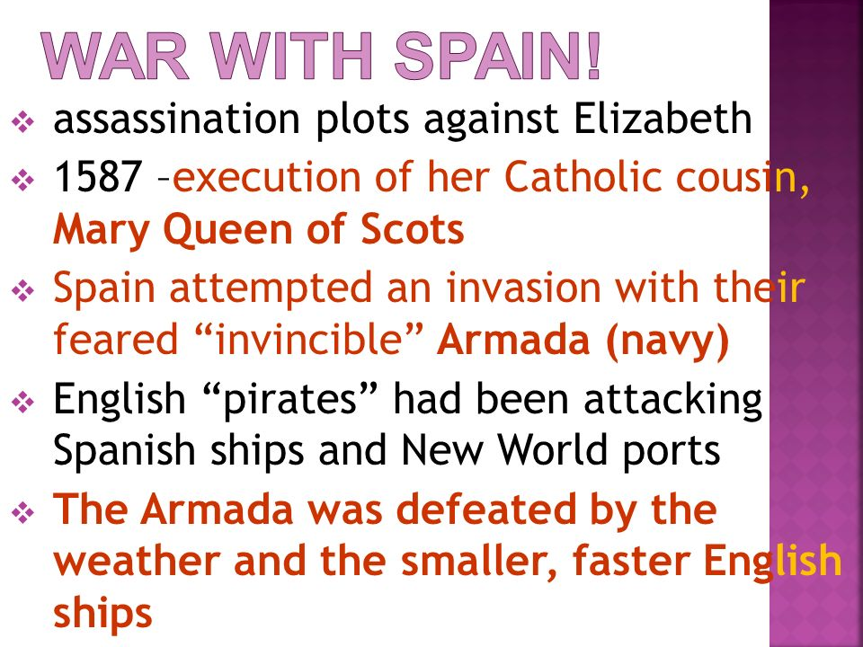 War with Spain! assassination plots against Elizabeth