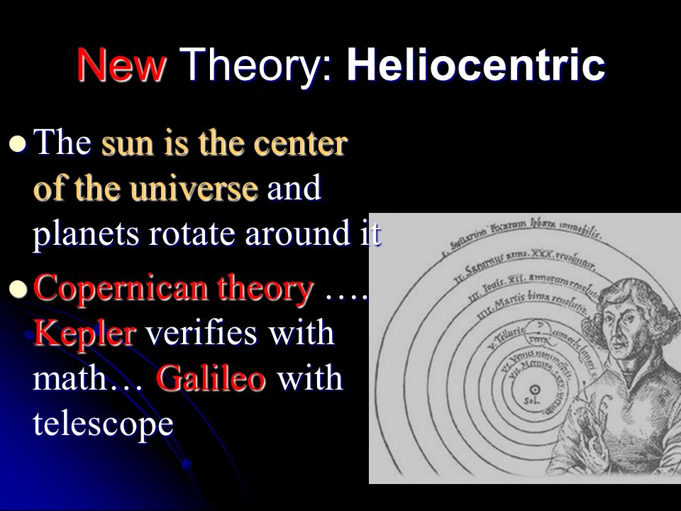 New Theory: Heliocentric