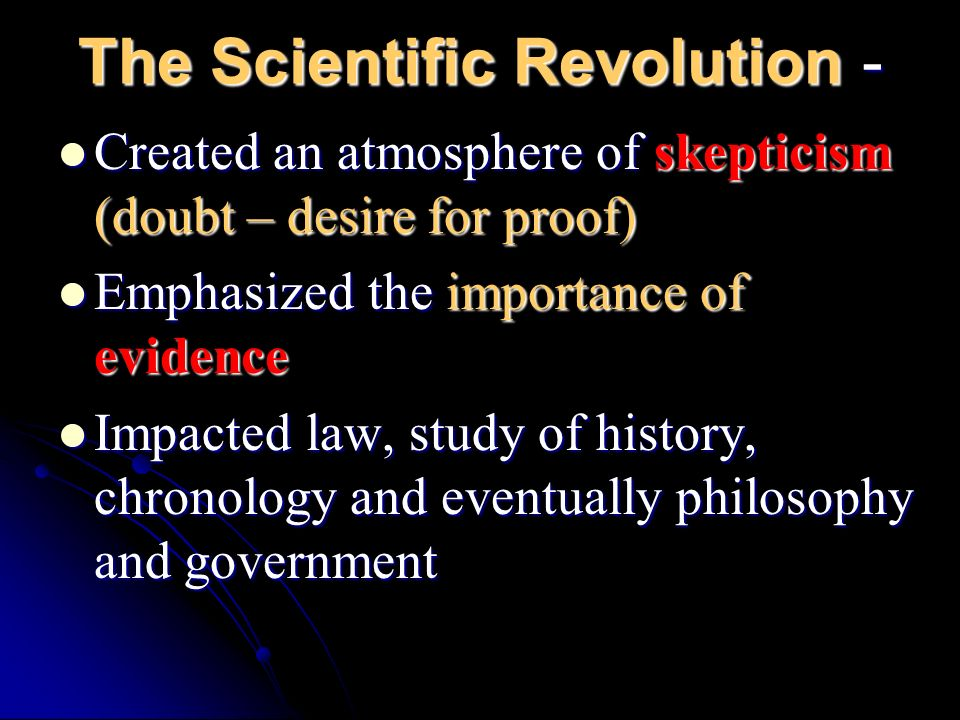 The Scientific Revolution -