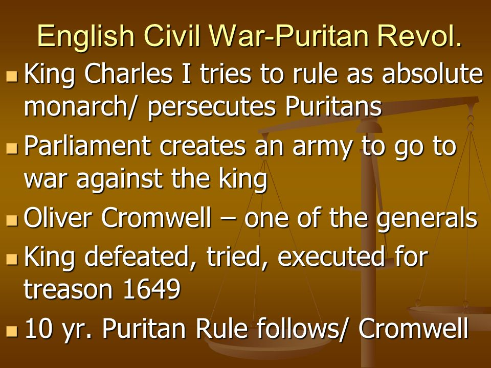 English Civil War-Puritan Revol.
