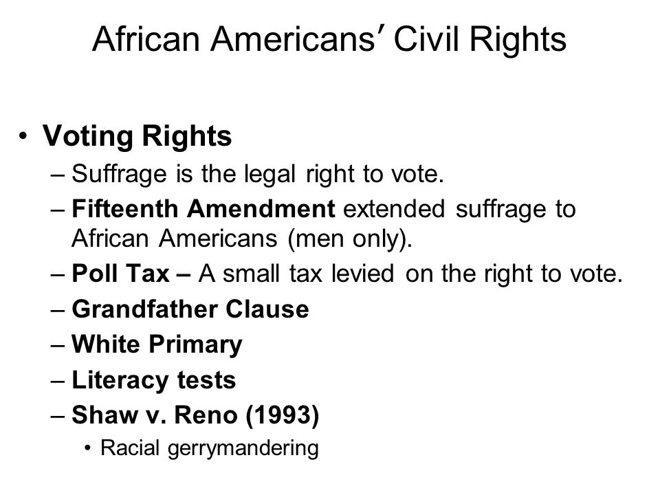 African Americans' Civil Rights