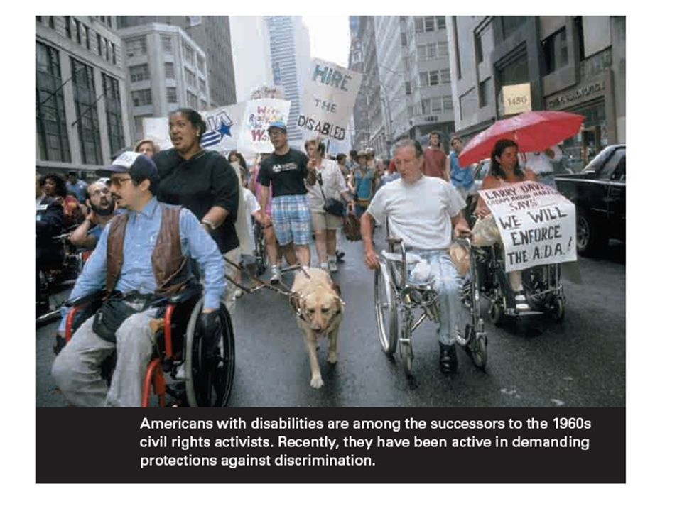 LO 5.5 Image: Americans with disabilities have been very active recently in demanding protection against discrimination.