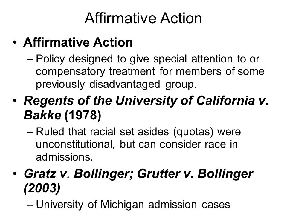 Affirmative Action Affirmative Action