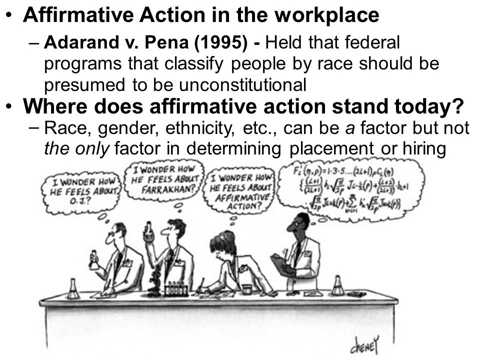 Affirmative Action in the workplace