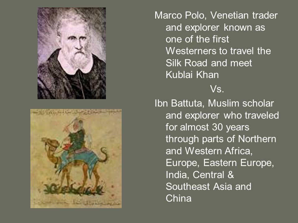 Marco Polo, Venetian trader and explorer known as one of the first Westerners to travel the Silk Road and meet Kublai Khan