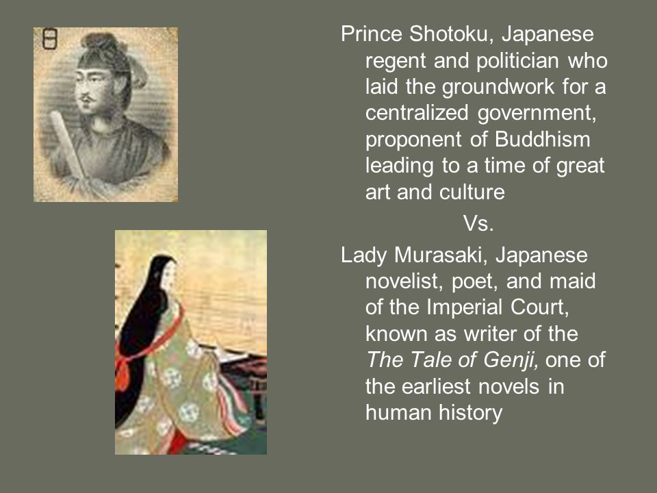 Prince Shotoku, Japanese regent and politician who laid the groundwork for a centralized government, proponent of Buddhism leading to a time of great art and culture